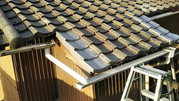 瓦屋根修理完成