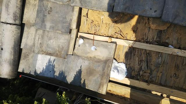 ずれた瓦の修理