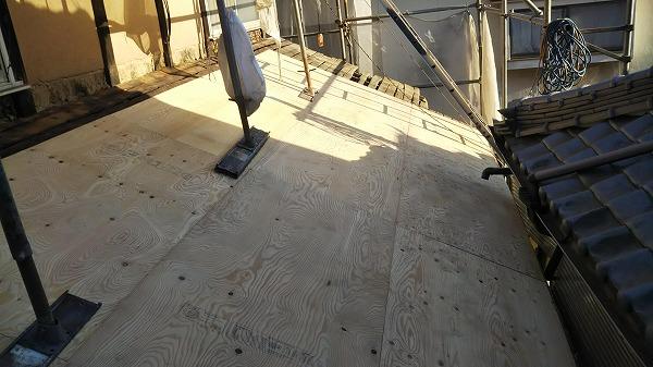1階屋根木下地工事
