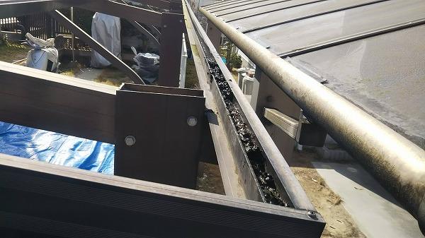 樋ゴミ詰まり
