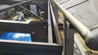 アルミサッシ樋掃除完工
