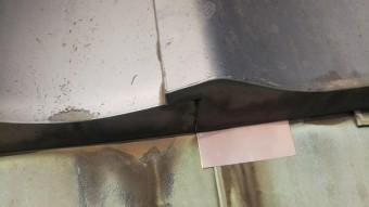 銅板穴に銅板貼付
