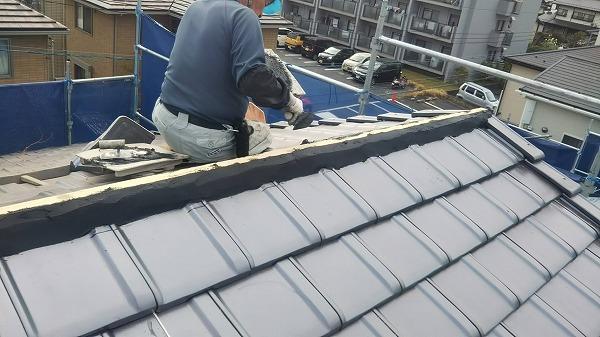 棟際シルガード塗布