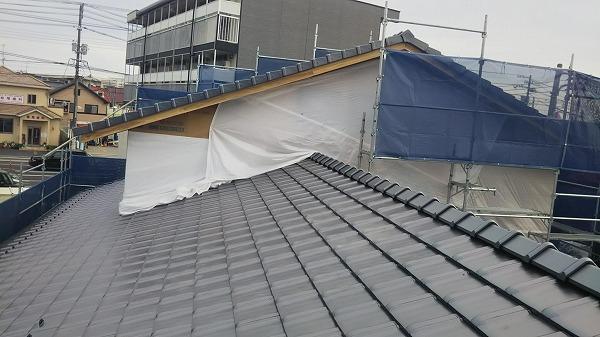 1階屋根完成