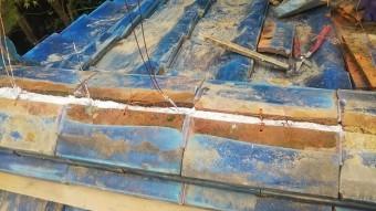 棟復旧銅線使用