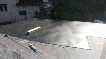 増築屋根現場加工板金