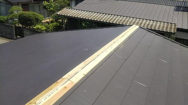 カバー工法、棟工事、貫板