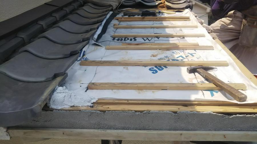 屋根崩落復旧工事