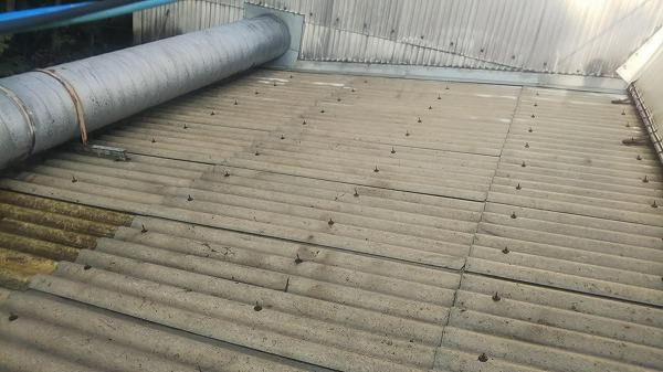 高圧洗浄後スレート屋根