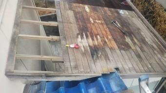 ポリカ波板貼り換え工事