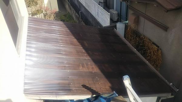 ポリカ波板貼り換え工事完工