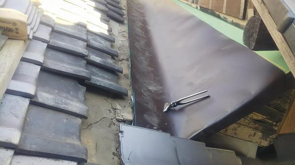 東広島市にて陸谷(ろくだに)板金・トタン壁工事の木工事を実施