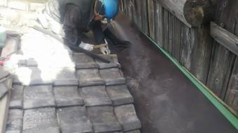 陸谷板金取り合い瓦復旧工事