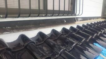 東広島市屋根リフォーム壁際工事