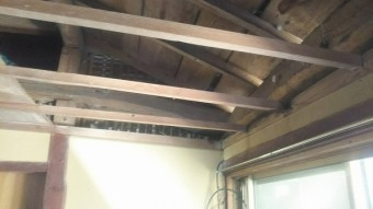 天井板撤去