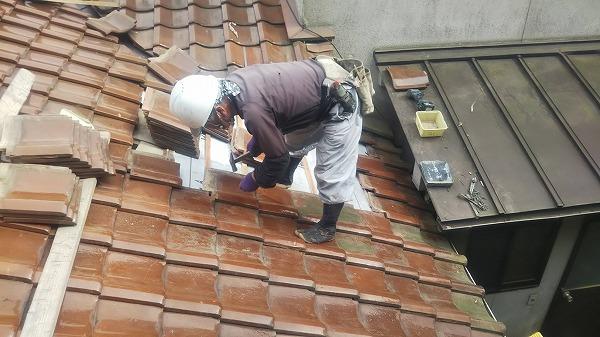 呉市雨漏り修理工事ルーフィング貼り戻し工事