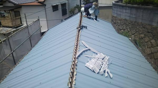 呉市大波スレートカバー工事