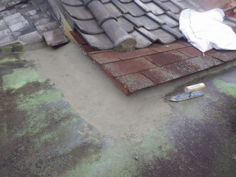 屋上防水左官工事