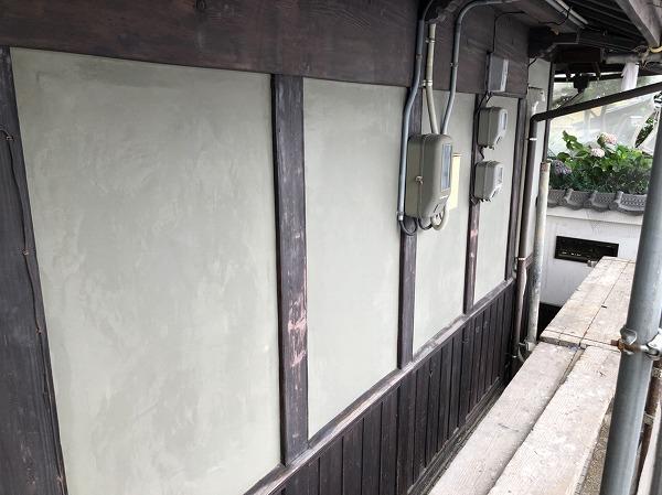 呉市外壁リフォームしっくい下地モルタル