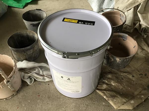 呉市外壁リフォーム塗装工事養生作業