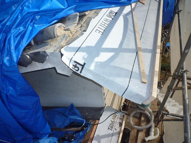 増改築屋根ルーフィング貼り