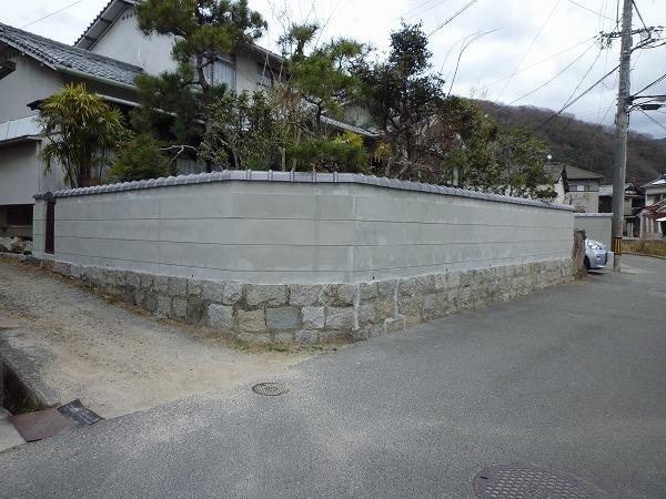 塀瓦壁左官工事