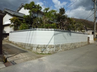 塀瓦壁塗装工事完成