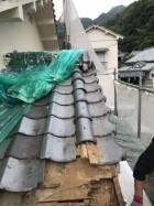 屋根一部崩落