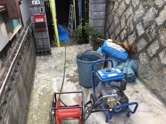 高圧洗浄用水溜機