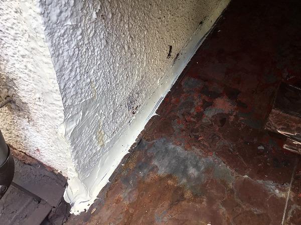 壁際取り合い部補修