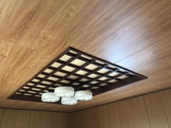 天井板貼替工事完成