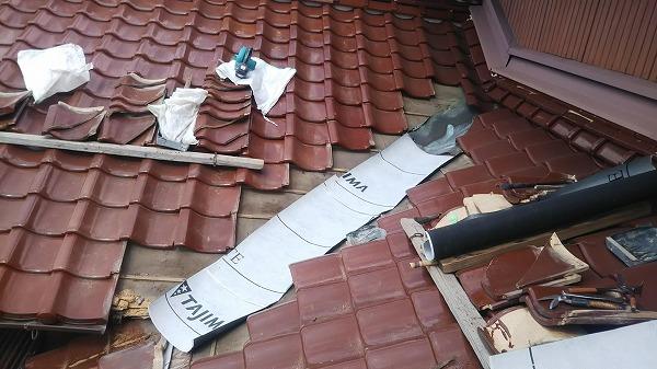 東広島市屋根リフォーム工事銅板谷板差替え工事
