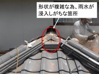 海田町屋根リフォーム棟瓦取り直し工事2