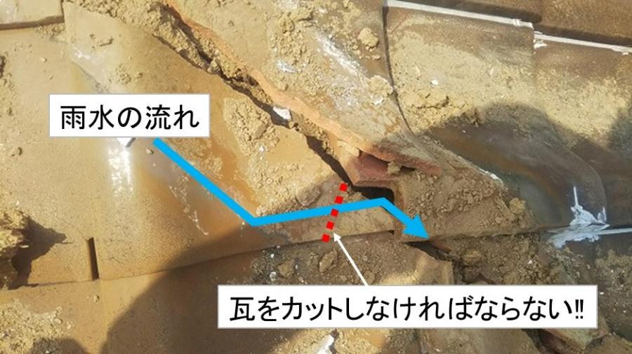 棟際瓦のカット